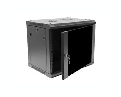 9U IT Wall Mount Network Server Data Cabinet Rack Glass Door