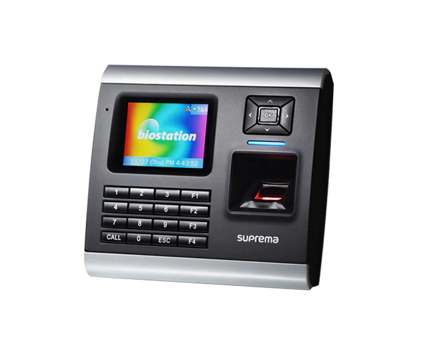 Suprema BioStation time and attendance control system